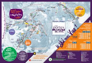 Plan des pistes Les Portes du Mont-Blanc 2018-2019