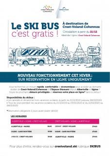 Horaires Navette Skieurs - Albertville -> Crest-Voland / Cohennoz - Hiver 2019-2020