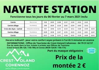 Horaires du Ski Bus - Crest-Voland / Cohennoz - Hiver 2020-2021