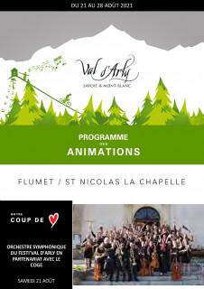 Hebdo des Animations de Flumet / St Nicolas la Chapelle du 16 au 23 janvier
