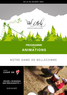 Hebdo des Animations de Notre Dame de Bellecombe du 16 au 23 janvier