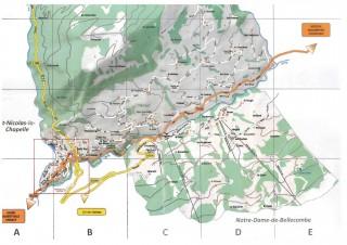 Plan de la station de Flumet