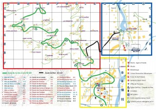 Plan de la station de La Giettaz en Aravis